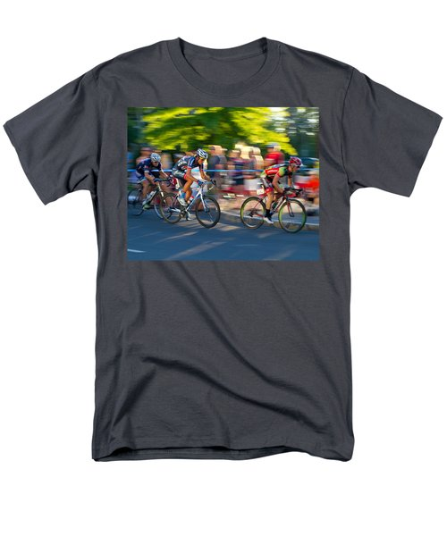 Men's T-Shirt  (Regular Fit) featuring the photograph Cycling Pursuit by Kevin Desrosiers