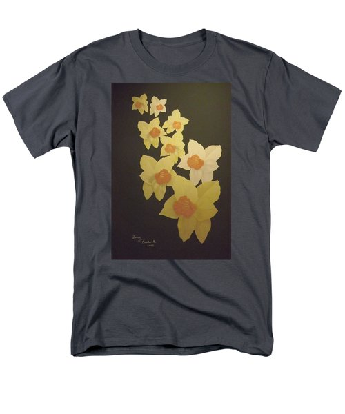 Men's T-Shirt  (Regular Fit) featuring the digital art Daffodils by Terry Frederick