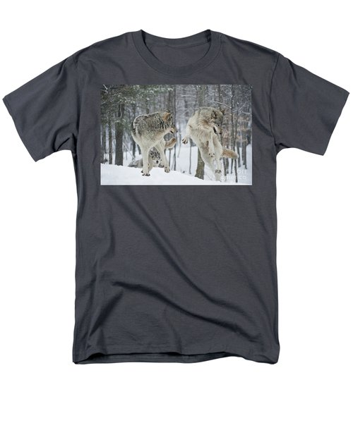 Men's T-Shirt  (Regular Fit) featuring the photograph Dances With Wolves by Wolves Only