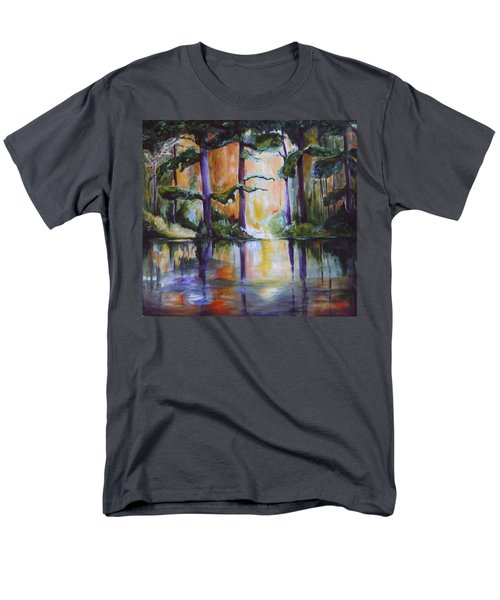 Men's T-Shirt  (Regular Fit) featuring the painting Dark Woods by Nadine Dennis