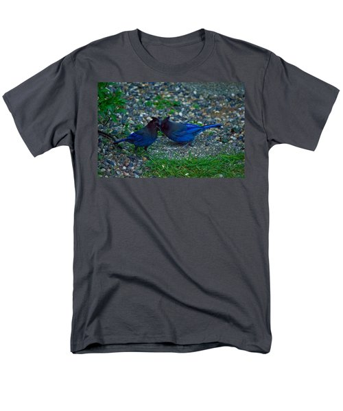 Darling I Have To Tell You A Secret-sweet Stellar Jay Couple Men's T-Shirt  (Regular Fit) by Eti Reid