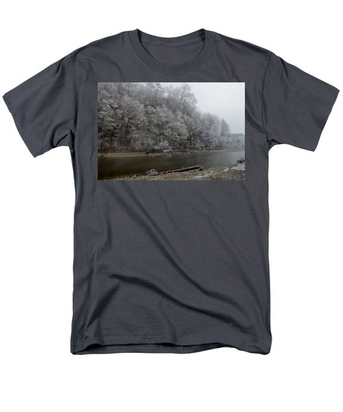 Men's T-Shirt  (Regular Fit) featuring the photograph December Morning On The River by Felicia Tica