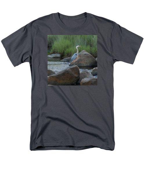 Definitely Blue Heron Men's T-Shirt  (Regular Fit) by Francine Frank
