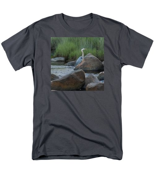 Definitely Blue Heron Men's T-Shirt  (Regular Fit)