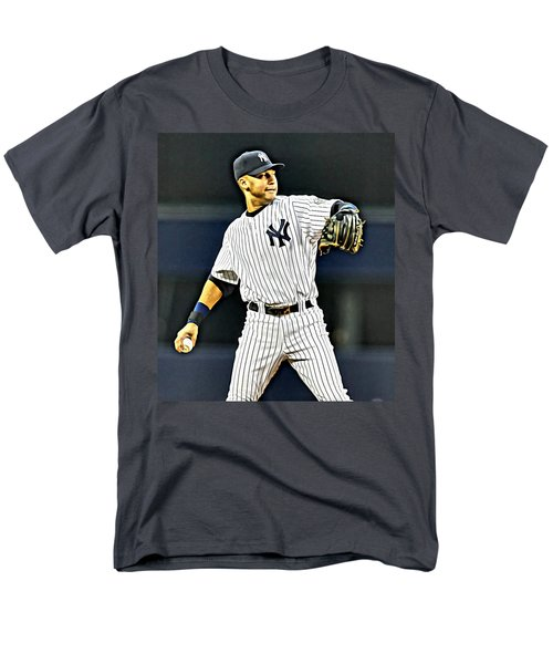 Derek Jeter Men's T-Shirt  (Regular Fit) by Florian Rodarte
