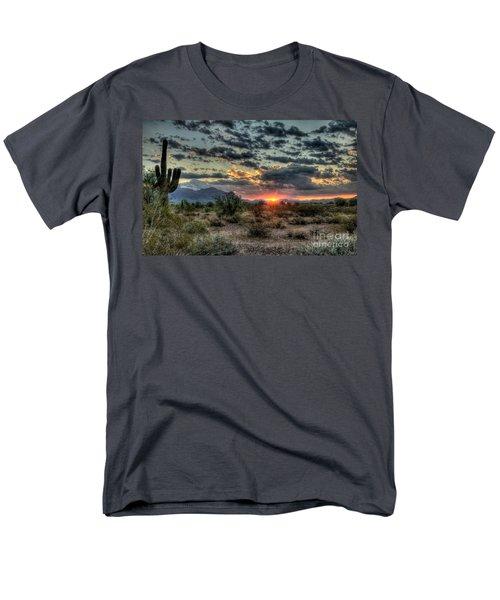 Desert Sunrise  Men's T-Shirt  (Regular Fit) by Saija  Lehtonen