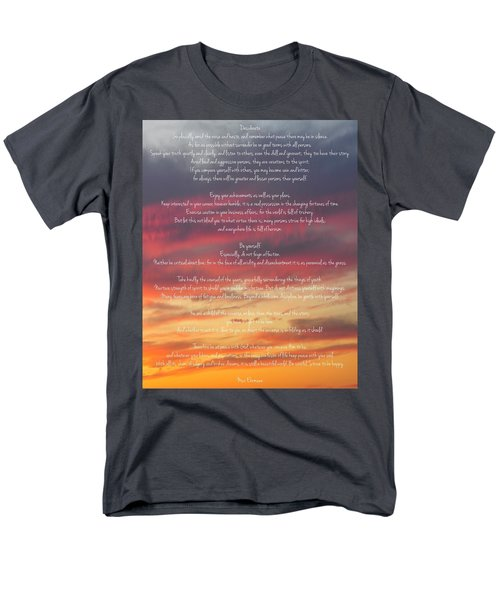 Desiderata Sky 2 Men's T-Shirt  (Regular Fit) by Terry DeLuco