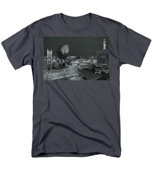 Detroit Lions Men's T-Shirt  (Regular Fit) by Nicholas  Grunas