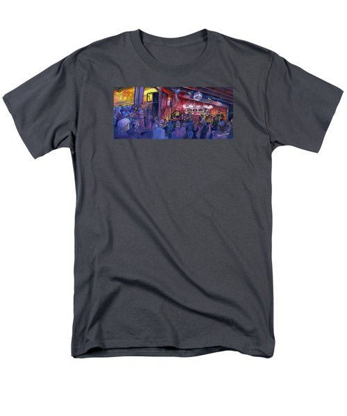 Dewey Paul Band At The Goat Men's T-Shirt  (Regular Fit) by David Sockrider