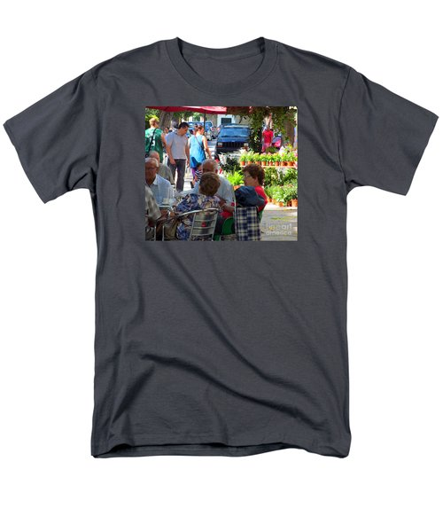 Men's T-Shirt  (Regular Fit) featuring the photograph Did You Say You Went On Vacation? by Tina M Wenger