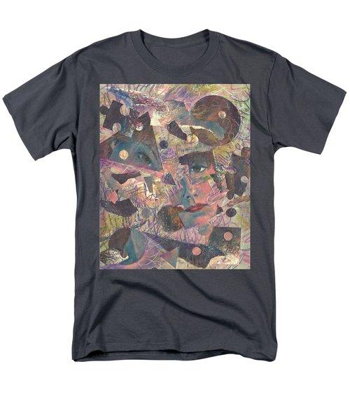 Distraction A Self Portrait Men's T-Shirt  (Regular Fit) by Melinda Dare Benfield