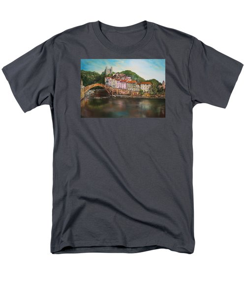 Men's T-Shirt  (Regular Fit) featuring the painting Dolceacqua Italy by Jean Walker