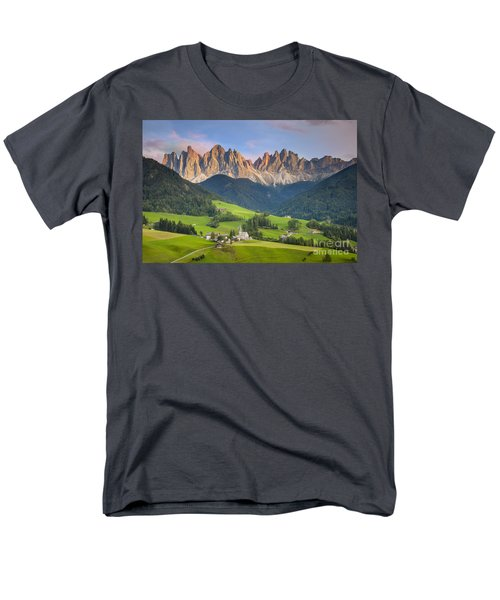Dolomites From Val Di Funes Men's T-Shirt  (Regular Fit) by Brian Jannsen