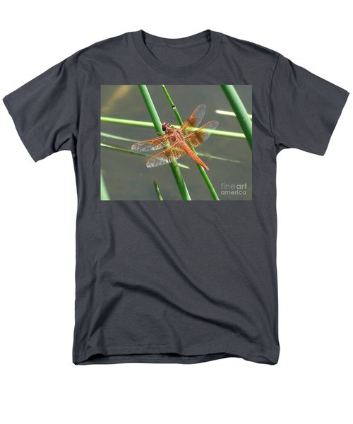 Men's T-Shirt  (Regular Fit) featuring the photograph Dragonfly Orange by Kerri Mortenson
