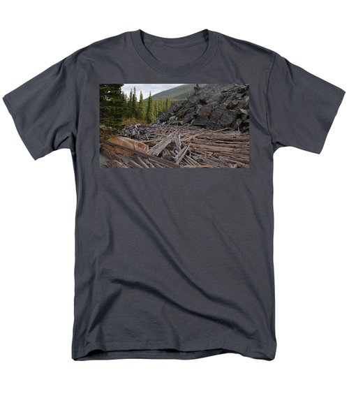 Driftwood And Rock Men's T-Shirt  (Regular Fit) by Cheryl Miller