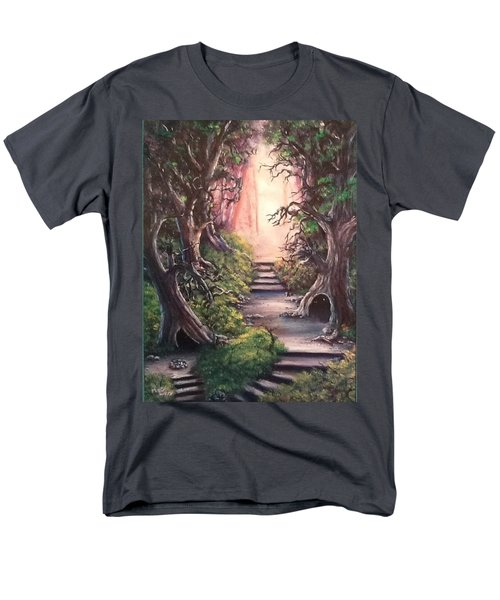 Men's T-Shirt  (Regular Fit) featuring the painting Druid's Walk by Megan Walsh