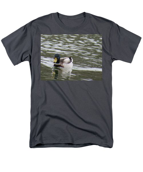 Men's T-Shirt  (Regular Fit) featuring the photograph Duck Out For A Swim by Aaron Martens