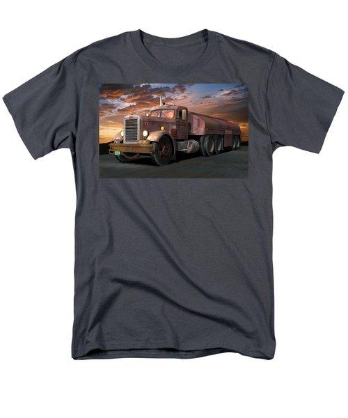 Duel Truck With Trailer Men's T-Shirt  (Regular Fit) by Stuart Swartz