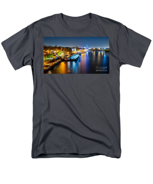 Duisburg Rhine East Bank Dammst Men's T-Shirt  (Regular Fit) by Daniel Heine