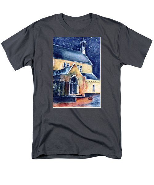 Men's T-Shirt  (Regular Fit) featuring the painting Duiske Abbey Ireland    by Trudi Doyle