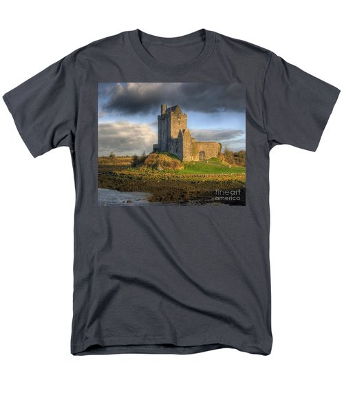Dunguaire Castle With Dramatic Sky Kinvara Galway Ireland Men's T-Shirt  (Regular Fit) by Juli Scalzi