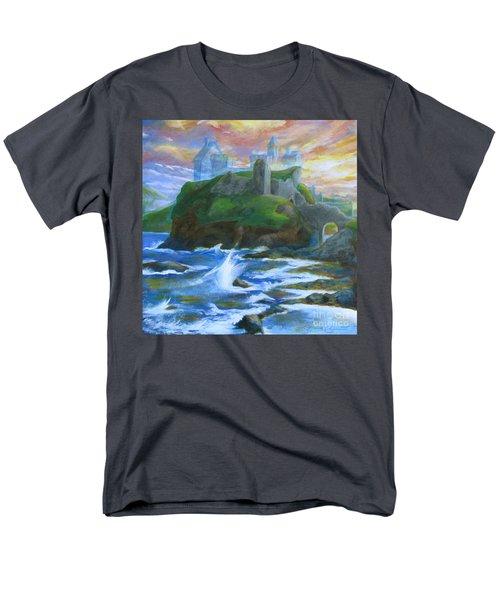 Dunscaith Castle - Shadows Of The Past Men's T-Shirt  (Regular Fit) by Samantha Geernaert