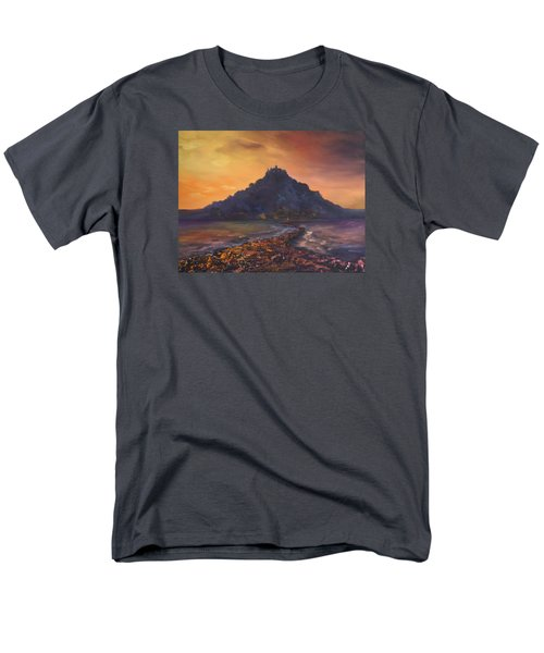 Men's T-Shirt  (Regular Fit) featuring the painting Dusk Over St Michaels Mount Cornwall by Jean Walker