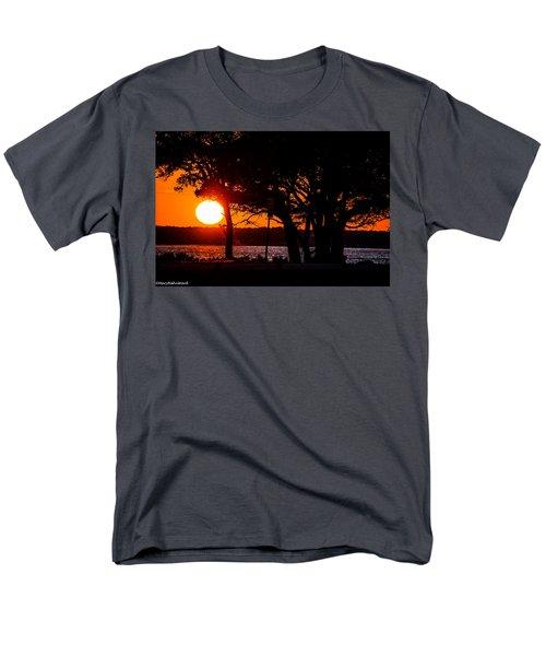Dusky Cape Fear River  Men's T-Shirt  (Regular Fit) by Mary Ward