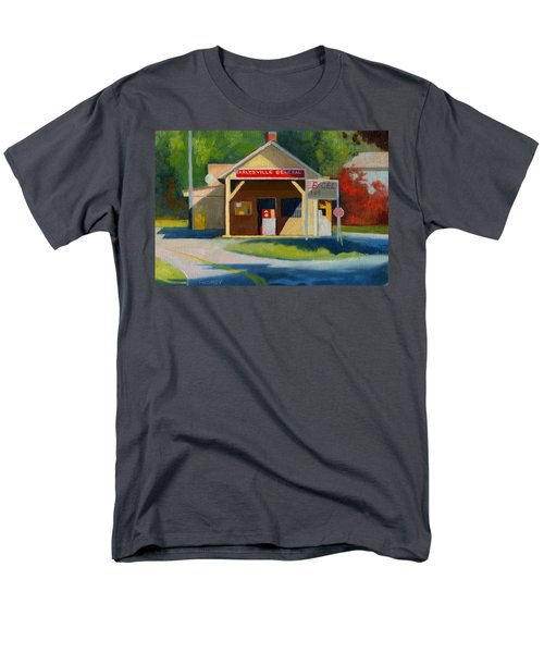 Earlysville Virginia Old Service Station Nostalgia Men's T-Shirt  (Regular Fit) by Catherine Twomey