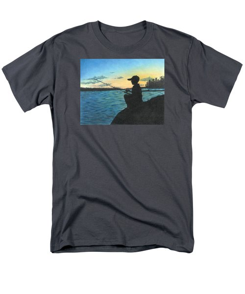 Men's T-Shirt  (Regular Fit) featuring the drawing East Pond by Troy Levesque