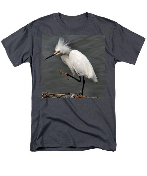 Egret Men's T-Shirt  (Regular Fit) by Roger Becker