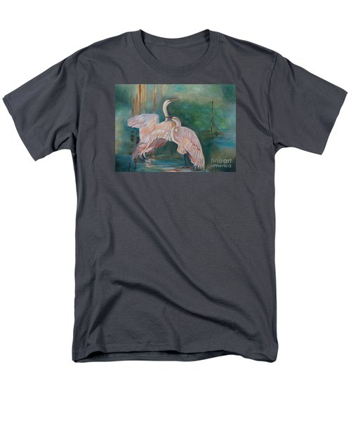 Egrets In The Mist Men's T-Shirt  (Regular Fit) by Jenny Lee