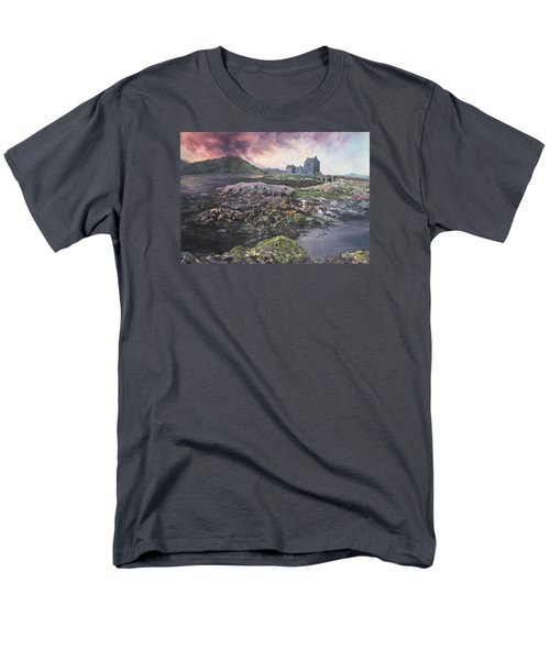 Men's T-Shirt  (Regular Fit) featuring the painting Eilean Donan Castle Scotland by Jean Walker