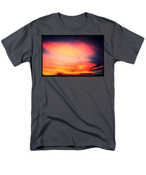 Electric Angel Playing A Harp In The Sky  Men's T-Shirt  (Regular Fit) by Kimberlee Baxter