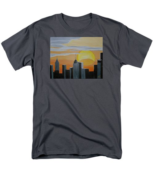 Men's T-Shirt  (Regular Fit) featuring the painting Elipse At Sunrise by Donna Blossom