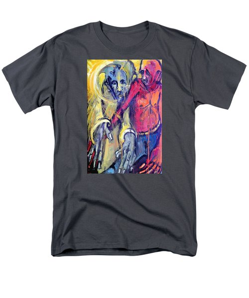 Men's T-Shirt  (Regular Fit) featuring the painting Emergence Of God The Father by Kenneth Agnello