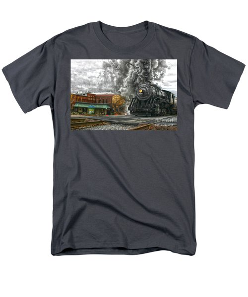 Engine 734 On The Western Maryland Scenic Railroad  Men's T-Shirt  (Regular Fit)