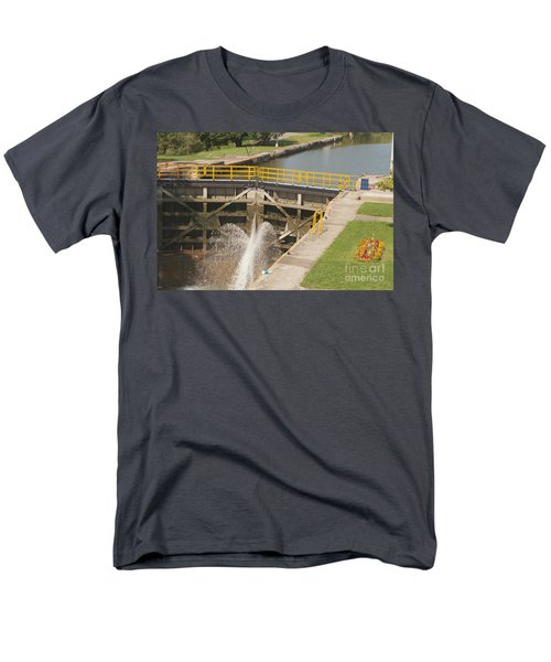 Men's T-Shirt  (Regular Fit) featuring the photograph Erie Canal Lock by William Norton
