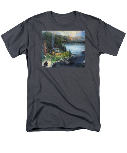 Evening Visitors Men's T-Shirt  (Regular Fit) by Donna Tucker