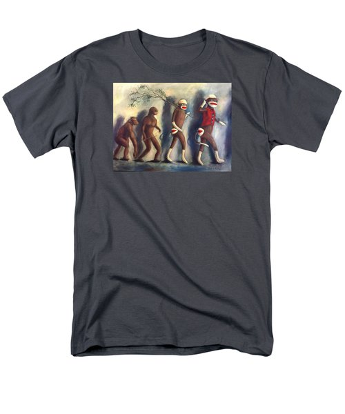 Men's T-Shirt  (Regular Fit) featuring the painting Evolution by Randol Burns
