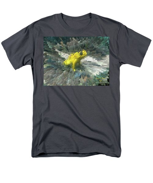 Men's T-Shirt  (Regular Fit) featuring the photograph Extrude Yellow Frog by Donna Brown