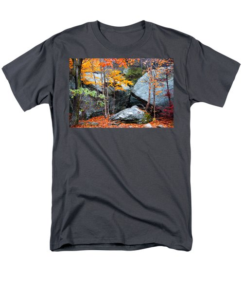 Men's T-Shirt  (Regular Fit) featuring the photograph Fall Among The Rocks by Bill Howard