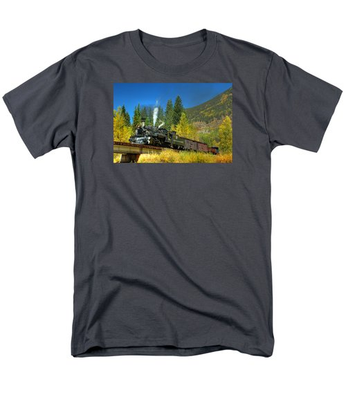 Fall Colored Bridge Men's T-Shirt  (Regular Fit) by Ken Smith