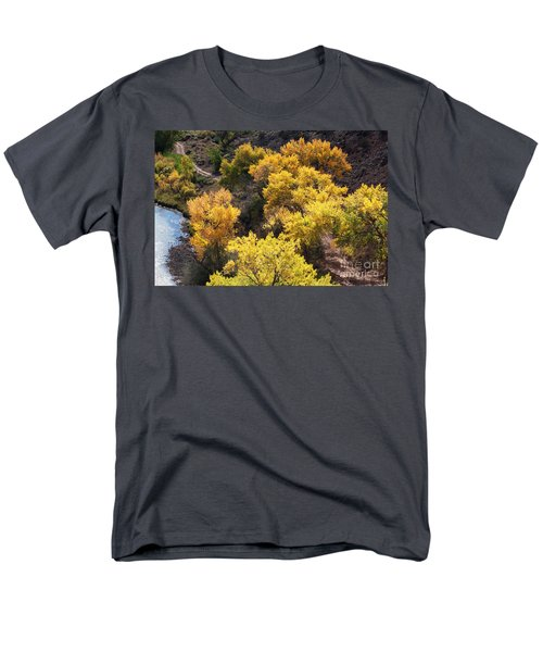 Men's T-Shirt  (Regular Fit) featuring the photograph Fall On The Chama River by Roselynne Broussard