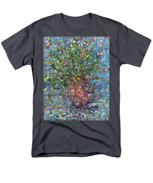 Men's T-Shirt  (Regular Fit) featuring the painting Falling Flowers by James W Johnson