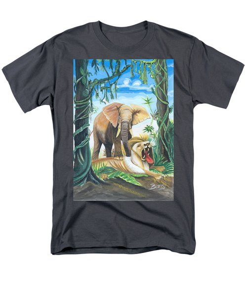 Faune D'afrique Centrale 01 Men's T-Shirt  (Regular Fit) by Emmanuel Baliyanga