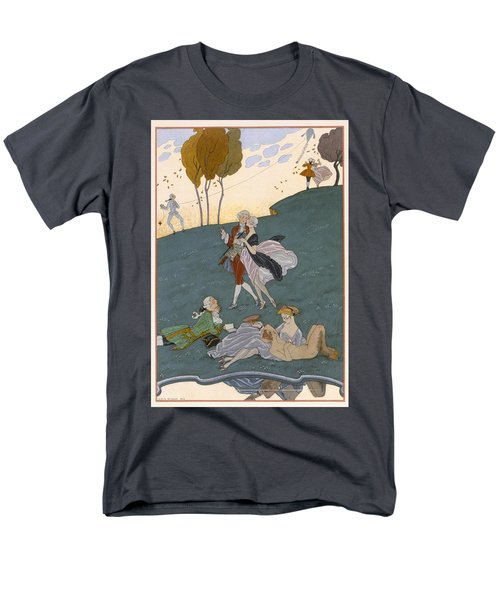 Fetes Galantes Men's T-Shirt  (Regular Fit) by Georges Barbier