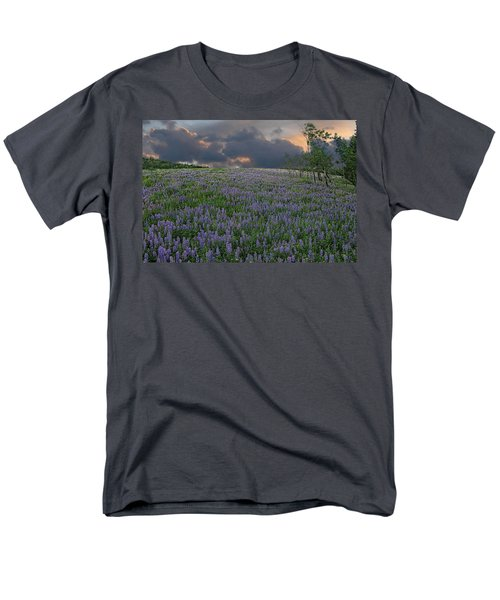 Field Of Lupine Men's T-Shirt  (Regular Fit) by Ed Hall