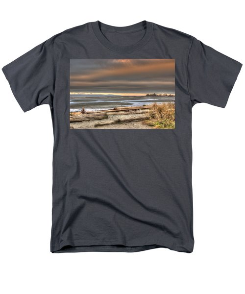 Fiery Sky Over The Salish Sea Men's T-Shirt  (Regular Fit) by Randy Hall