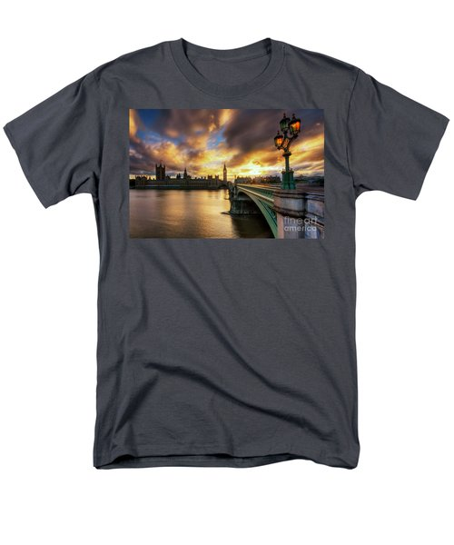 Fire In The Sky Men's T-Shirt  (Regular Fit) by Yhun Suarez